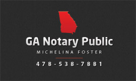Business Card Michelina Foster