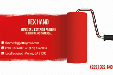 Business Card Rex Hand