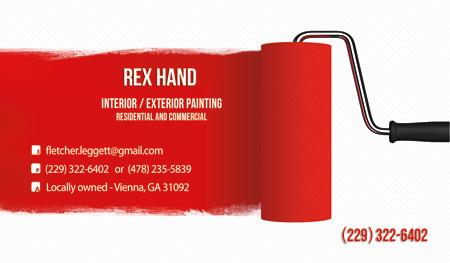 Business Card Rex Hand