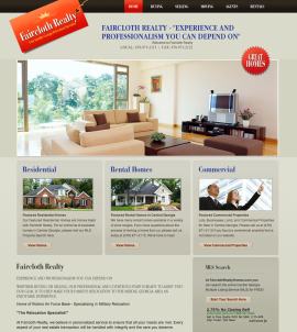 Website Design Faircloth Realty