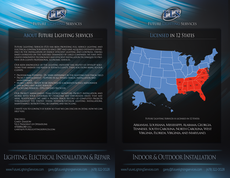 Pamphlet Future Lighting Services