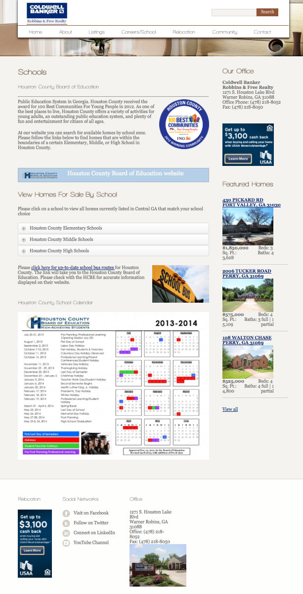 Website Coldwell Banker Robbins & Free